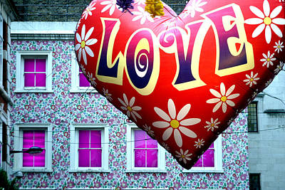 Love On The Roof Tops Art Print by Jez C Self