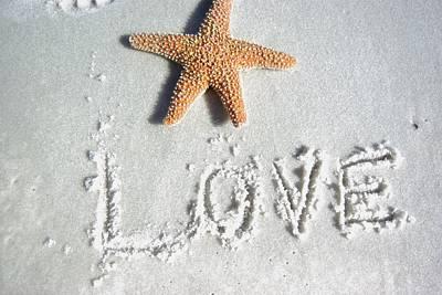 Love On The Sand Art Print