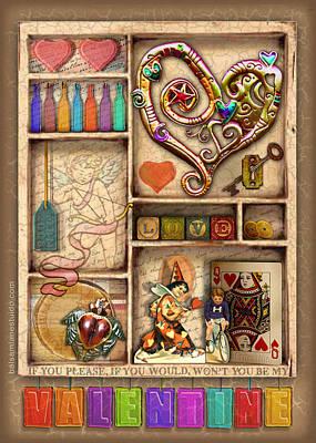 Love On The Shelf Art Print by Ernestine Grindal
