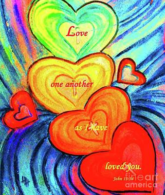 Painting - Love One Another by Hazel Holland