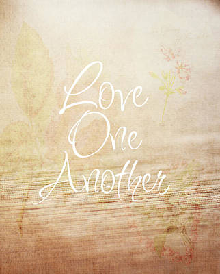 Love Photograph - Love One Another by Inspired Arts