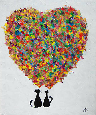 Stylish Painting - Love, Original by Eva Vladi