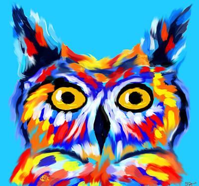 Digital Digital Art - Love Owl Ways And Forever by Abstract Angel Artist Stephen K