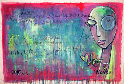 Painting - Love Painting by Laurie Maves ART