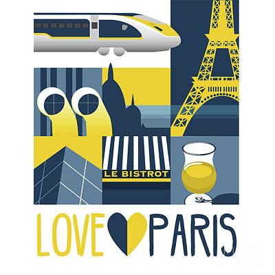 Sightseeing Digital Art - Love Paris  by Claire Huntley