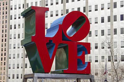 Jfk Plaza Photograph - Love Park In Center City - Philadelphia by Brendan Reals
