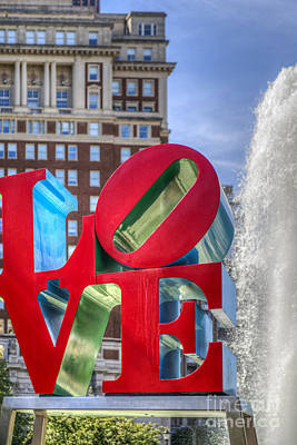 Photograph - Love Park Philadelphia  by David Zanzinger
