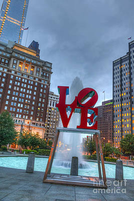 Photograph - Love Park Philly Town by David Zanzinger