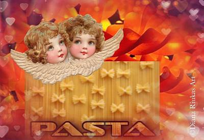 Digital Art - Love Pasta by Diana Riukas