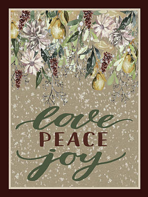 Digital Art - Love Peace Joy by HH Photography of Florida