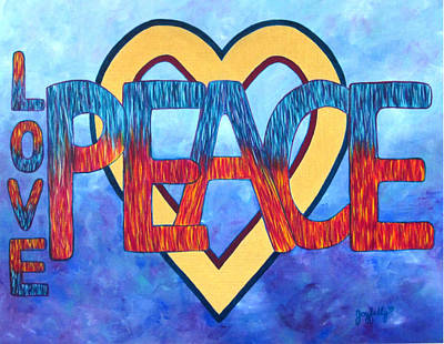 Painting - Love Peace by Melissa Joyfully