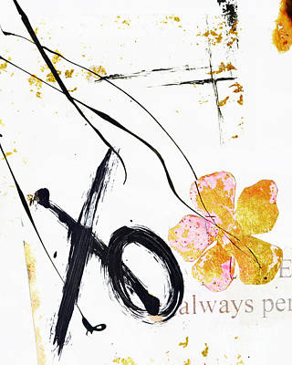 Love Perseveres Xo Collage Art Print by Anahi DeCanio