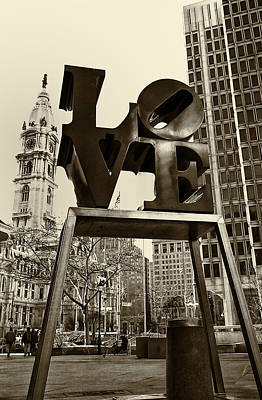 Love Philadelphia Art Print by Jack Paolini