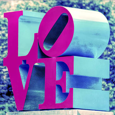 Photograph - Love Philadelphia Neon Pink by Terry DeLuco