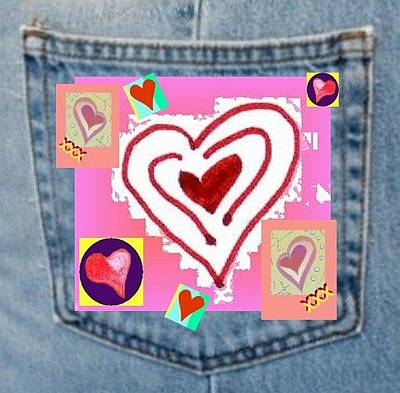 Digital Art - Love Pocket by Julia Woodman