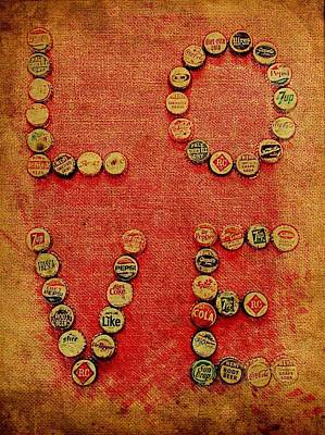Faded Love Mixed Media - Love Pop Vintage by Carol Neal
