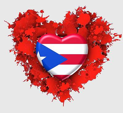 Puerto Rico Digital Art - Love Puerto Rico by Alberto RuiZ