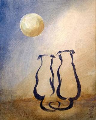 Painting - Love Pups by Dina Dargo