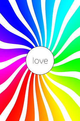 Love - Rainbow Swirl Art Print