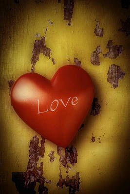 Photograph - Love Red Heart by Garry Gay