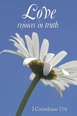 Love Rejoices In Truth Art Print