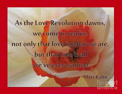Photograph - Love Revolution by Sybil Staples