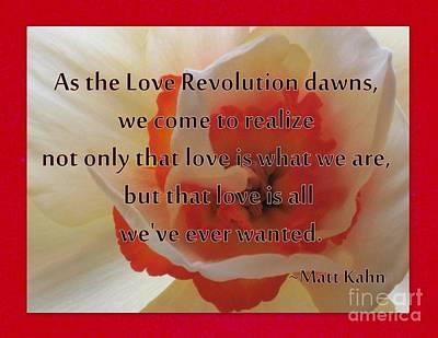 Photograph - Love Revolution by Sybil Staples