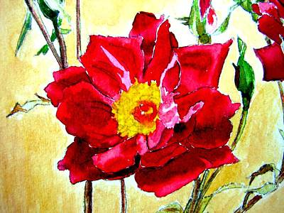 Art Print featuring the painting Love Rose by Ana Maria Edulescu