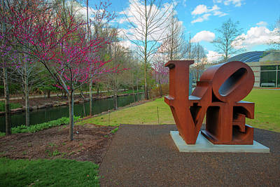Photograph - Love Sculpture - Crystal Bridges Art Museum  by Gregory Ballos
