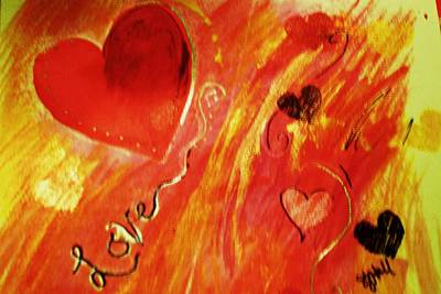 Greeting Card - Love by Sheila J Hall