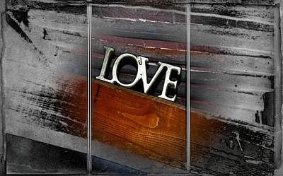 Photograph - Love Shines Through Triptych by Dorothy Berry-Lound