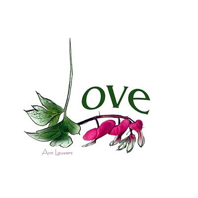 Digital Art - Love Shirt by Ann Lauwers