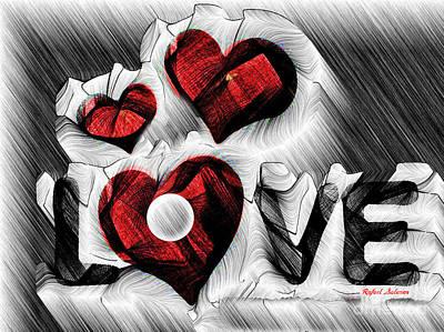 Digital Art - Love Sketch  by Rafael Salazar