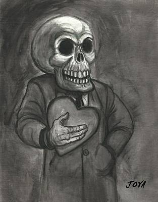 Universal Monsters Painting - Love Skull by Jack Joya