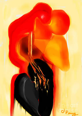 Love Slipping Away Art Print