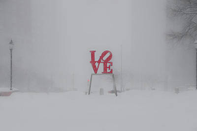 Phillies Digital Art - Love Snow by Bill Cannon