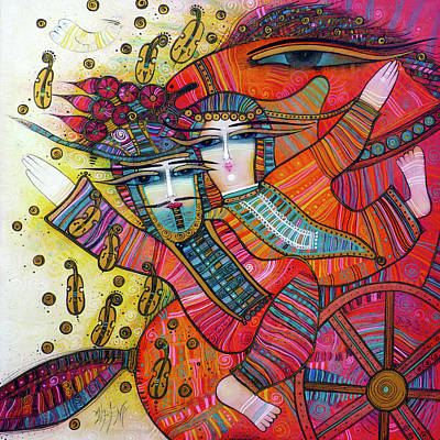 Wall Art - Painting - Love Song by Albena Vatcheva