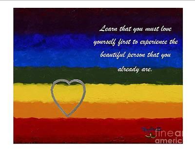 Painting - Love - Spiritual Art Poster With A Message by Pat Heydlauff