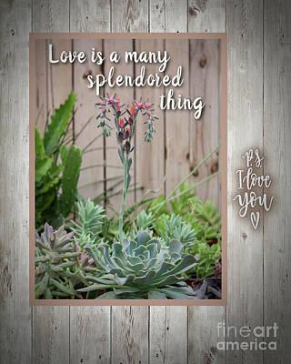 Digital Art - Love Splendored Thing by Mary Bellew