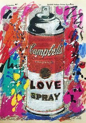 Love Spray Paint Art Print by Venus