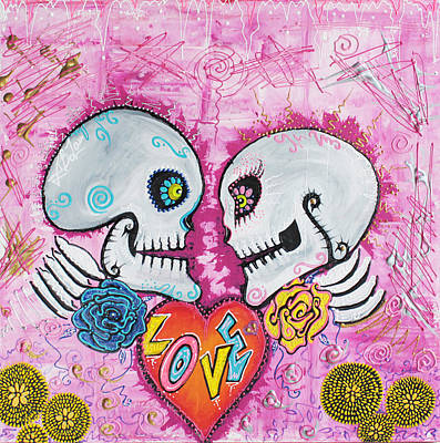 Mexican Painting - Love Story by Laura Barbosa