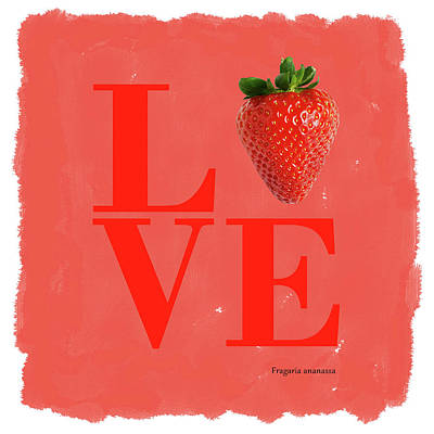 Watermelon Wall Art - Photograph - Love Strawberry by Mark Rogan