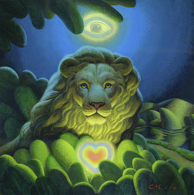 Wall Art - Painting - Love, Strength, Wisdom by Chris Miles