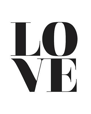 Black Top Mixed Media - Love by Studio Grafiikka