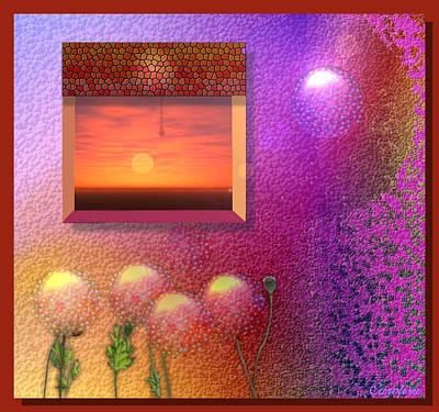Strawberries Digital Art - Love Sunset And Strawberries by Carola Ann-Margret Forsberg