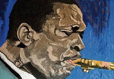 Saxophon Painting - Love Supreme by Inaki Massini Pontis