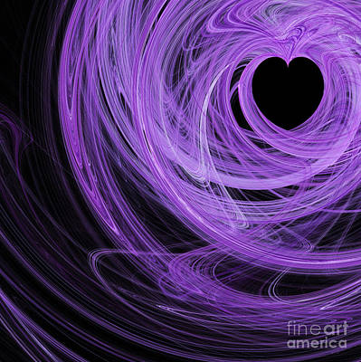 Digital Art - Love Swirls . Square . A120423.689 by Wingsdomain Art and Photography