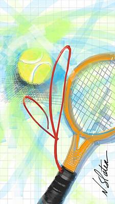 Recently Sold - Sports Royalty-Free and Rights-Managed Images - Heart Tennis by Nicole Slater