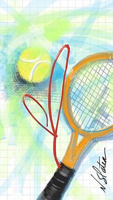 Tennis Digital Art - Heart Tennis by Nicole Slater