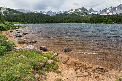 Photograph - Love The Colorado Rocky Mountains by James BO  Insogna